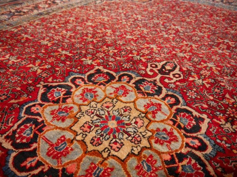 Semi Antique Persian Rug from Bidjar Mid-Century For Sale 3