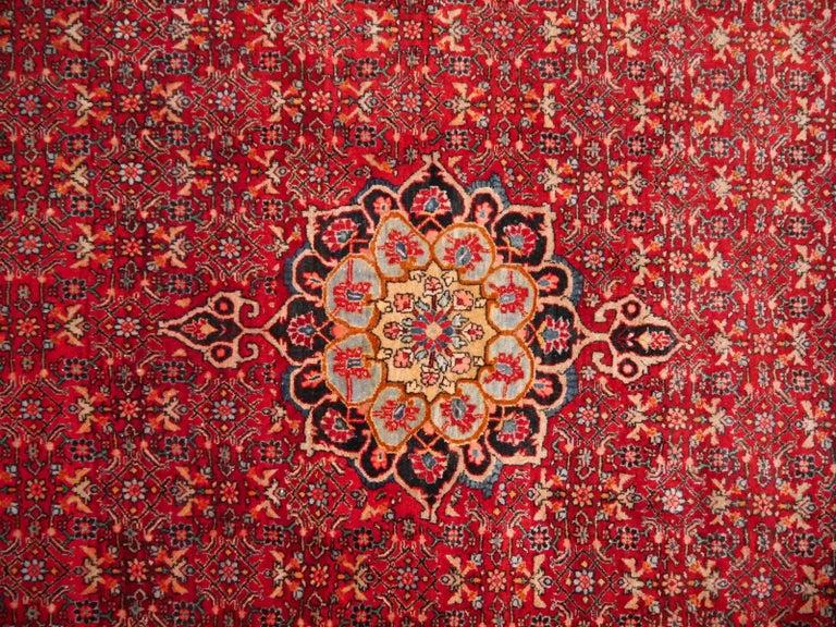 Semi Antique Persian Rug from Bidjar Mid-Century For Sale 4