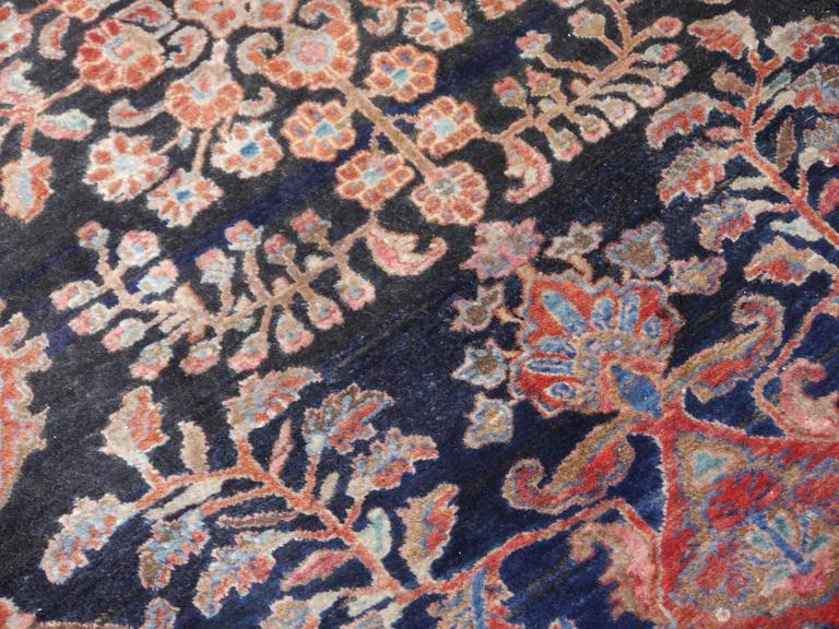 Hand-Knotted Antique Oversize Sarouk Persian Rug For Sale