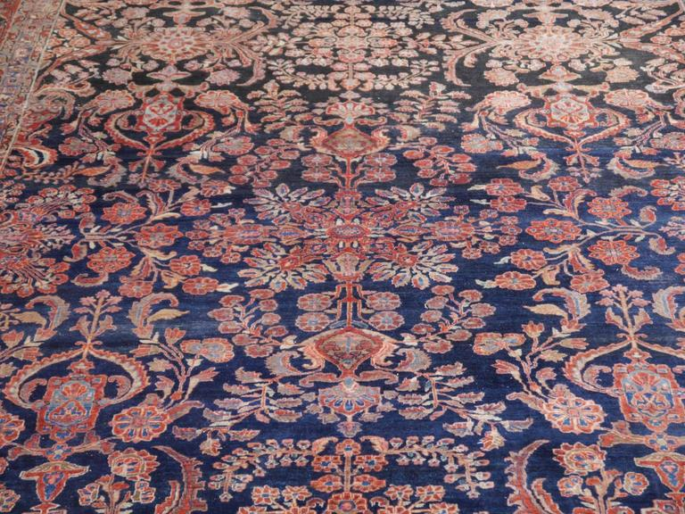 Wool Antique Oversize Sarouk Persian Rug For Sale