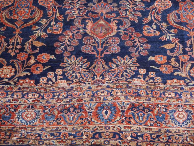 Antique Oversize Sarouk Persian Rug For Sale 1