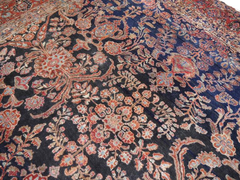 Antique Oversize Sarouk Persian Rug For Sale 2