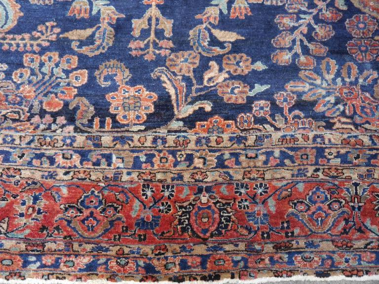 Antique Oversize Sarouk Persian Rug For Sale 3