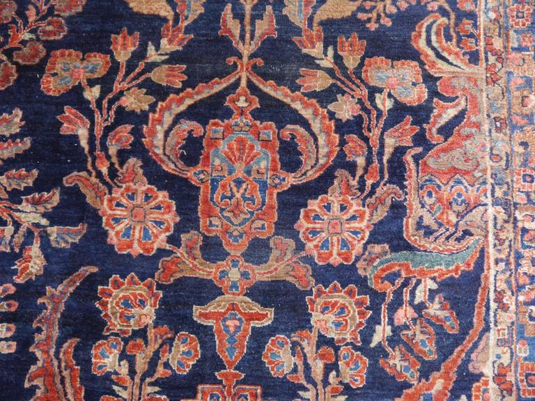 Antique Oversize Sarouk Persian Rug For Sale 4