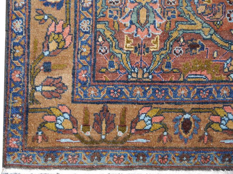 Beautiful antique Persian hand-knotted Sultanabad rug.