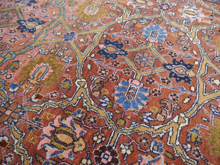 Hand-Knotted Antique Persian Rug Sultanabad For Sale