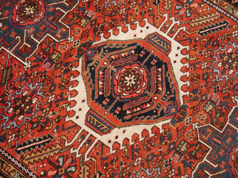 Heriz Karaja Semi Antique Persian Rug In Good Condition For Sale In Lohr, Bavaria, DE