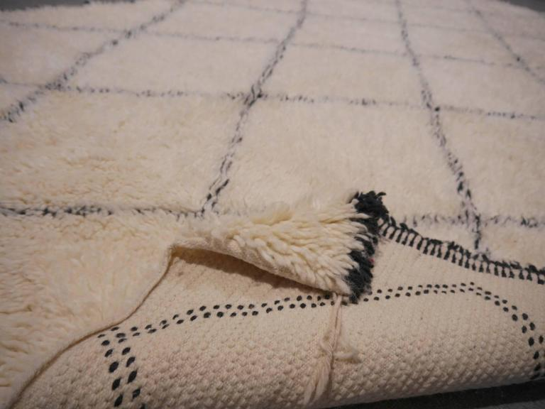 beni ourain north african moroccan diamond berber rug wool handknotted 2