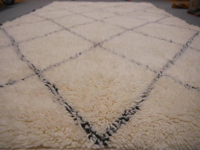 Beni Ourain North African Moroccan Diamond Berber Rug Wool