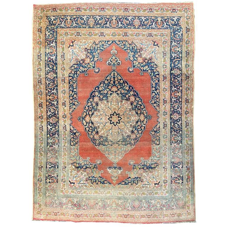 Haji Jalili Antique Persian Tabriz Rug