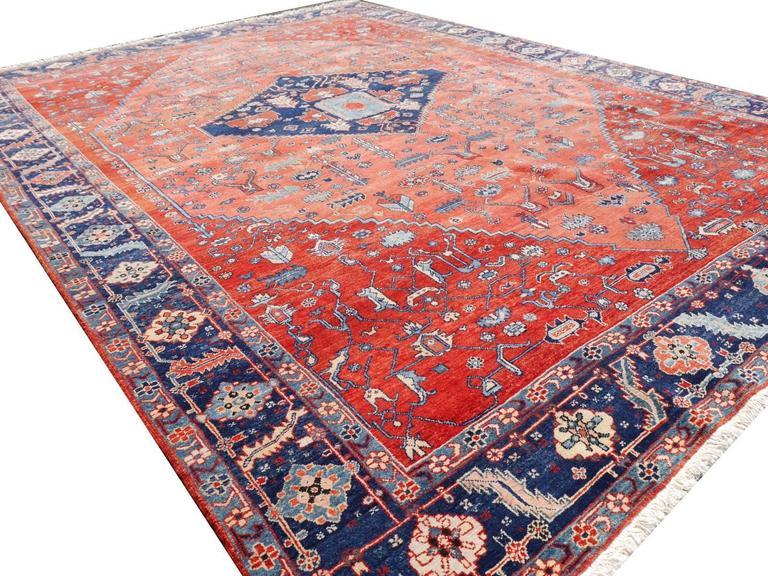 Turkish Persian Style Azeri Heriz Rug For Sale