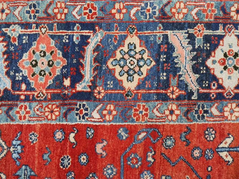 Hand-Knotted Persian Style Azeri Heriz Rug For Sale