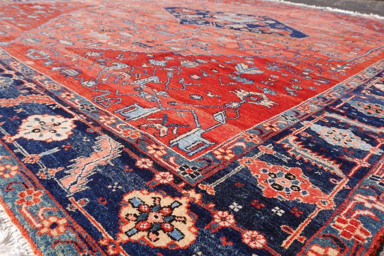 Wool Persian Style Azeri Heriz Rug For Sale