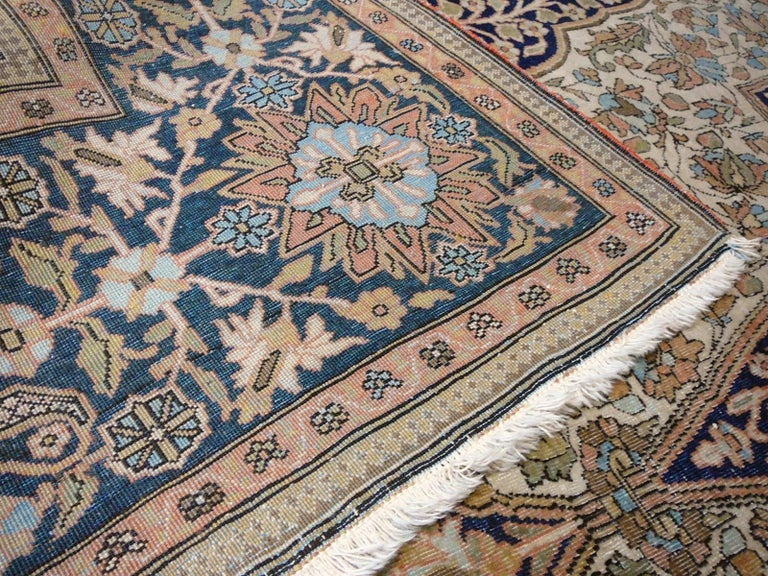 19th Century Mohtasham Kashan Fine and Rare Collectors Rug For Sale 4