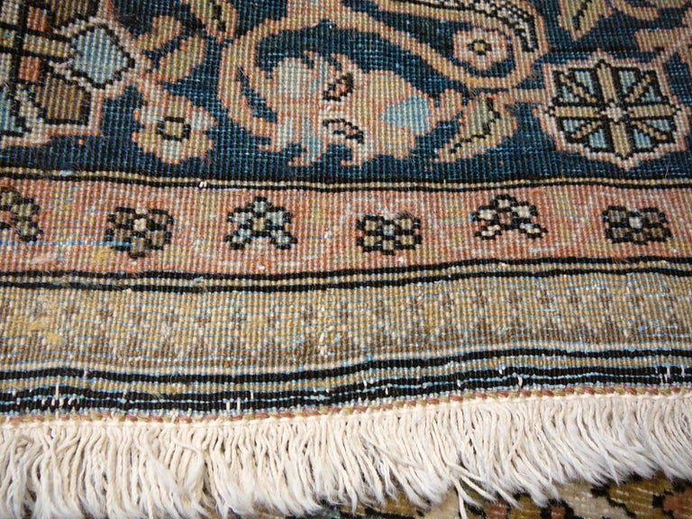 19th Century Mohtasham Kashan Fine and Rare Collectors Rug For Sale 5