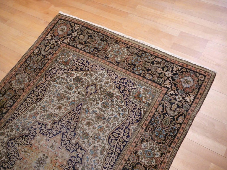 19th Century Mohtasham Kashan Fine and Rare Collectors Rug For Sale 10