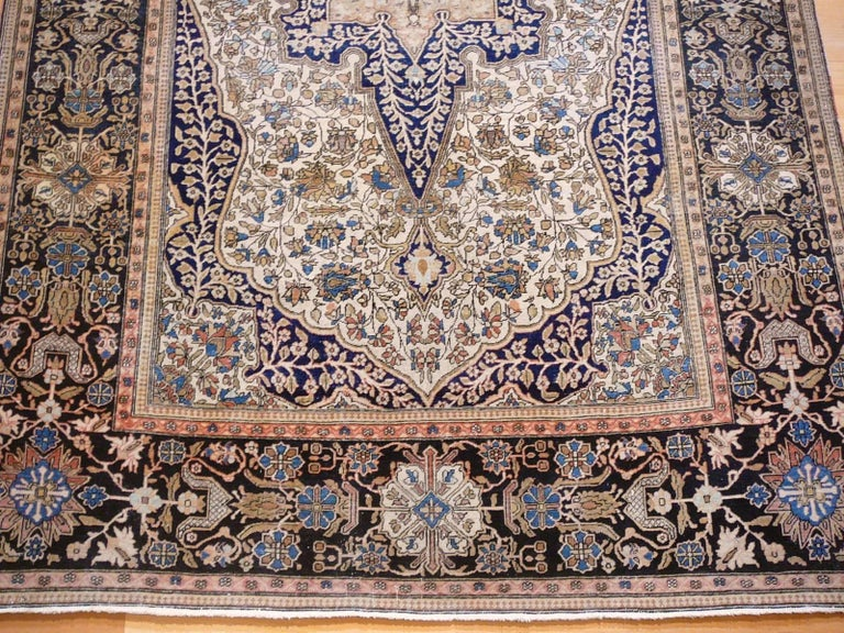 19th Century Mohtasham Kashan Fine and Rare Collectors Rug For Sale 13