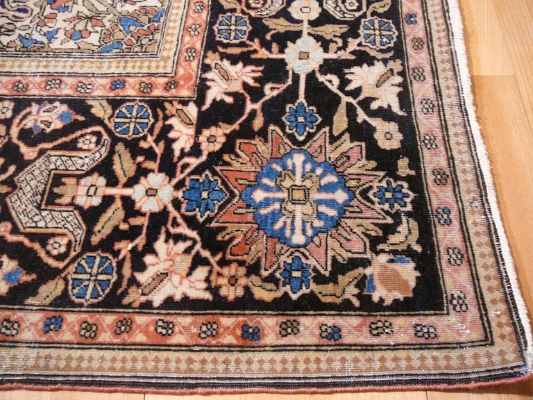 19th Century Mohtasham Kashan Fine and Rare Collectors Rug For Sale 14