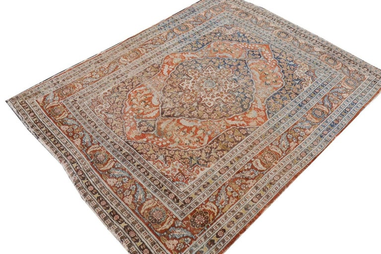 Persian Rug Haji Jalili Antique Distressed Carpet 2
