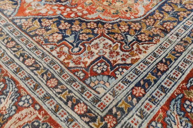 Persian Rug Haji Jalili Antique Distressed Carpet 4