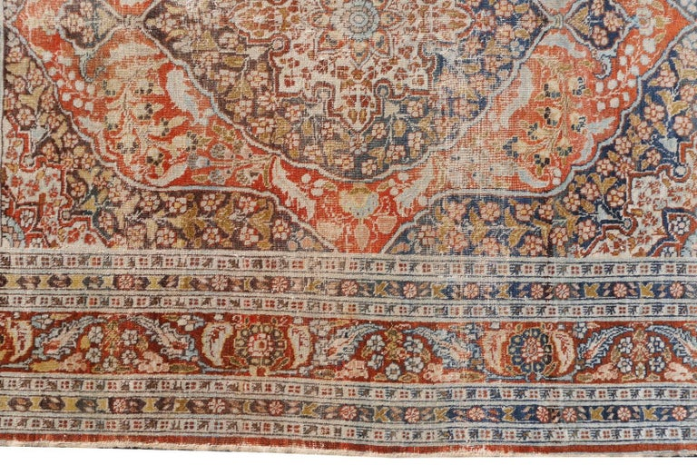 Persian Rug Haji Jalili Antique Distressed Carpet 5