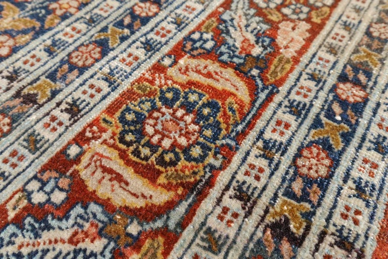 Persian Rug Haji Jalili Antique Distressed Carpet For Sale 1