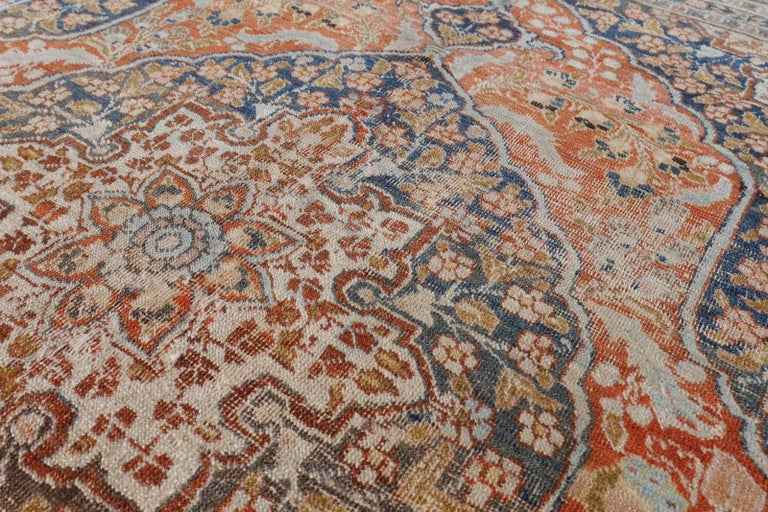 Persian Rug Haji Jalili Antique Distressed Carpet For Sale 3