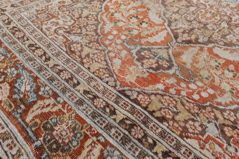 Persian Rug Haji Jalili Antique Distressed Carpet For Sale 4