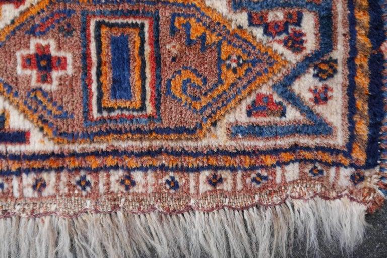 Lion Rug Qashqai Persian Vintage Nomadic Wedding Carpet 6