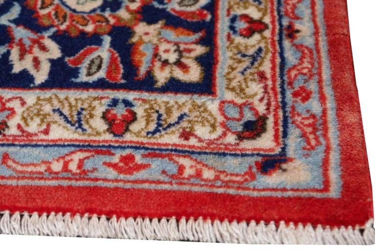 Isfahan Persian Wool and Silk Rug 4