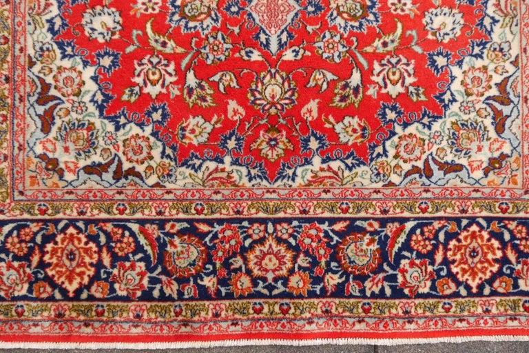 Isfahan Persian Wool and Silk Rug 7