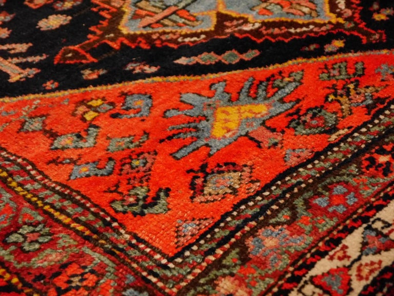 Persian Rug Qashqai Tribal Hand-Knotted Antique Wool Carpet For Sale 1