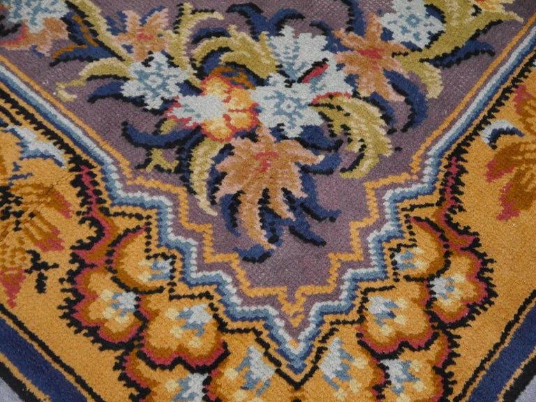 Art Nouveau Hand-Knotted Western European French Design Wool Rug For Sale 1