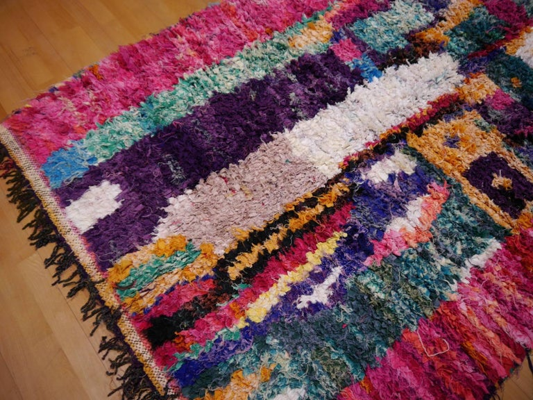 North African Tribal Khozema Rug Modern Moroccan Design In Excellent Condition For Sale In Lohr, Bavaria, DE