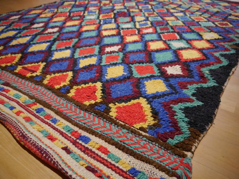 Vintage North African Moroccan Azilal Berber Rug 2