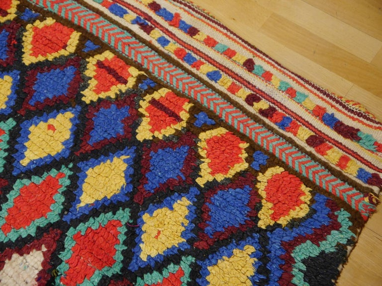 Vintage North African Moroccan Azilal bifurcated Berber Rug For Sale 1
