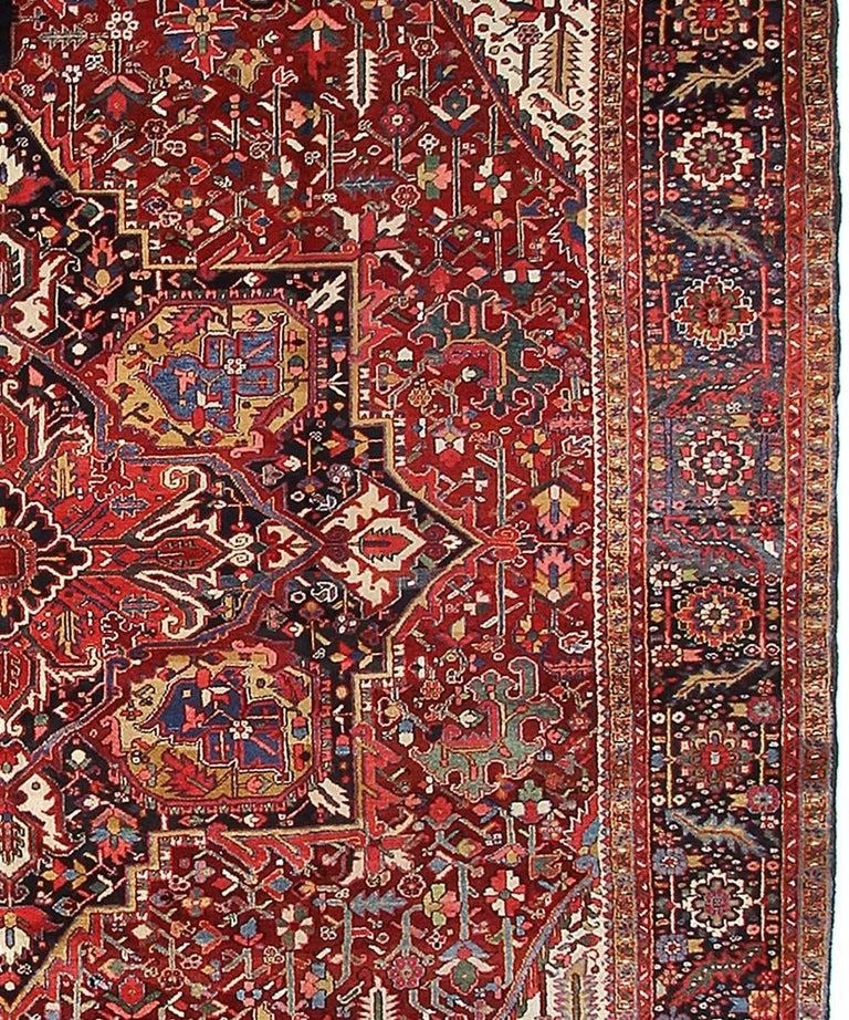 Persian Rug Heriz Oversized Large Hand Knotted Carpet 7