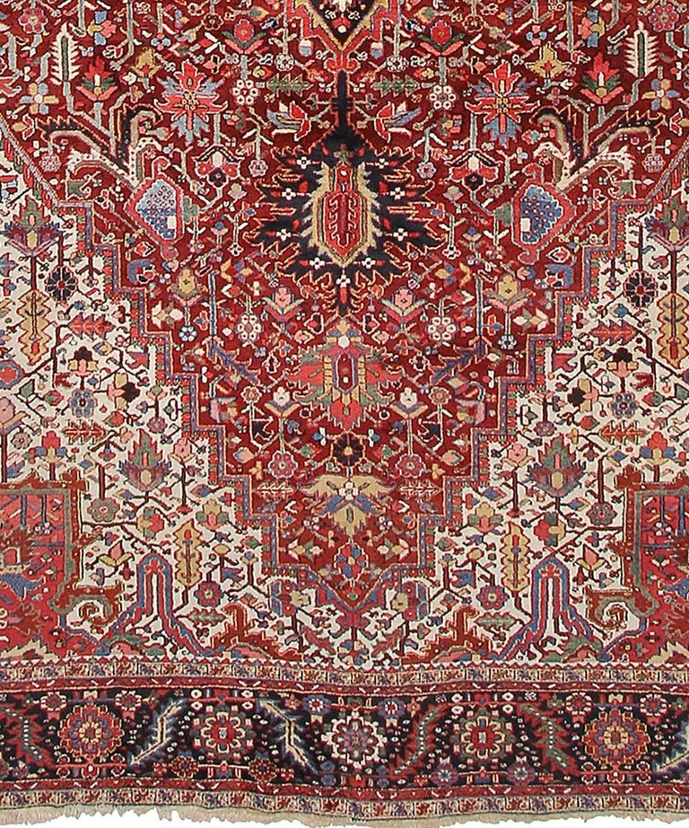 Persian Rug Heriz Oversized Large Hand Knotted Carpet 9