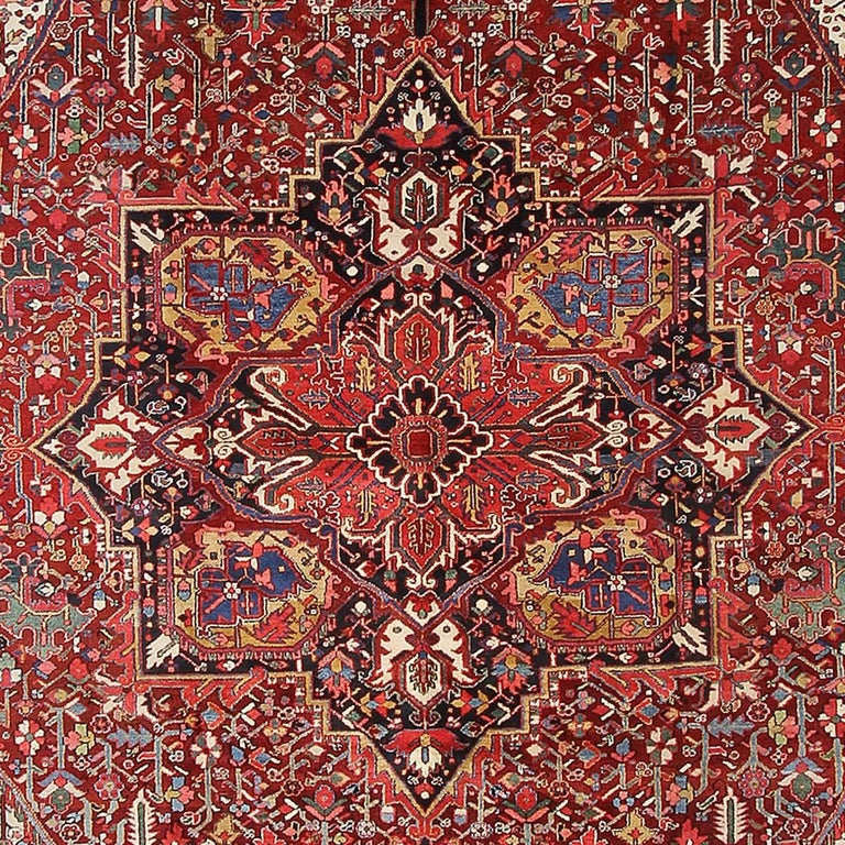 Persian Rug Heriz Oversized Large Hand Knotted Carpet 6