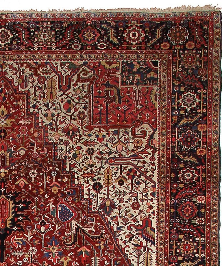 Persian Rug Heriz Oversized Large Hand Knotted Carpet 4