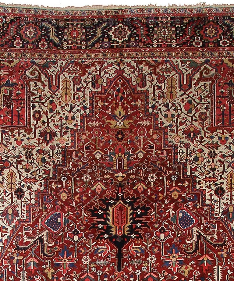 Persian Rug Heriz Oversized Large Hand Knotted Carpet 3
