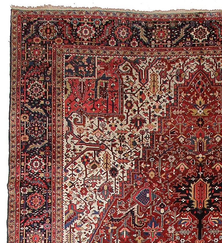 Persian Rug Heriz Oversized Large Hand Knotted Carpet 2