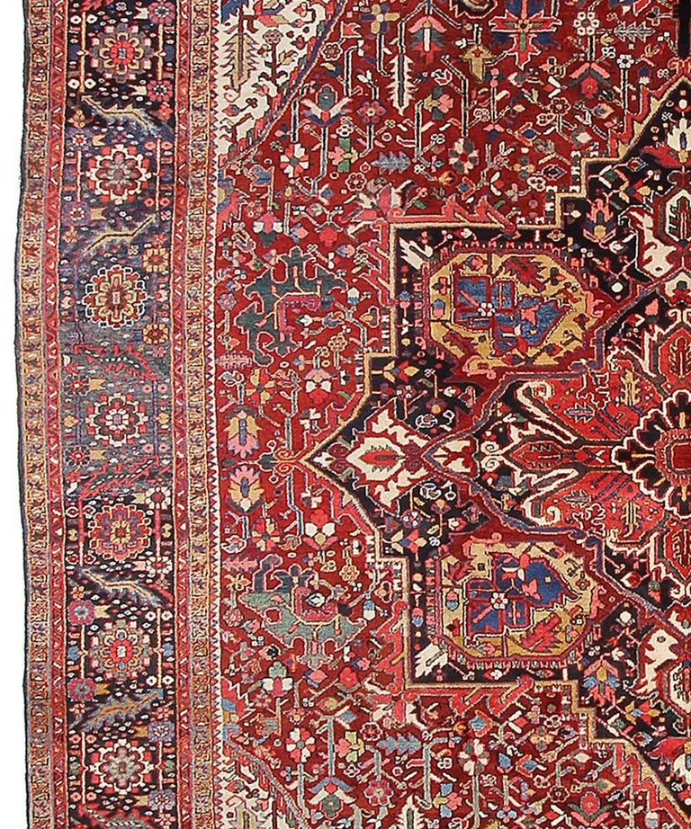 Persian Rug Heriz Oversized Large Hand Knotted Carpet 5