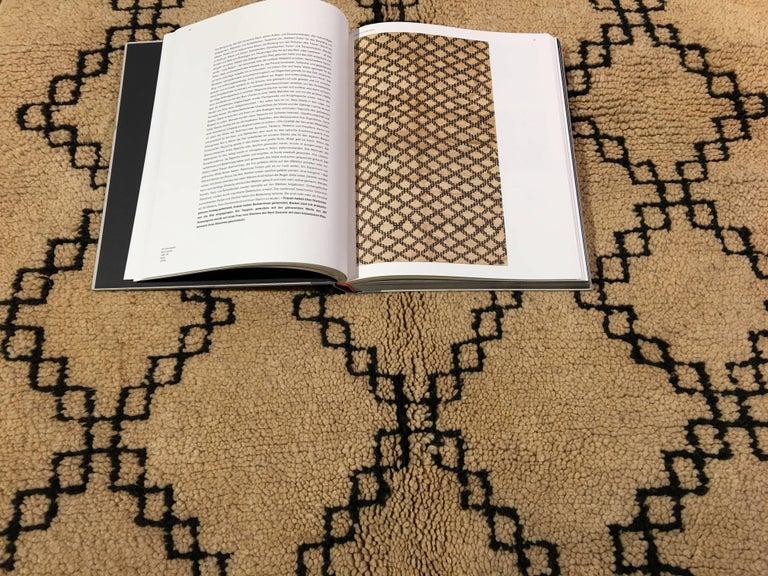 Vintage Moroccan Berber Rug Beige Brown North African Tribal Carpet For Sale 3