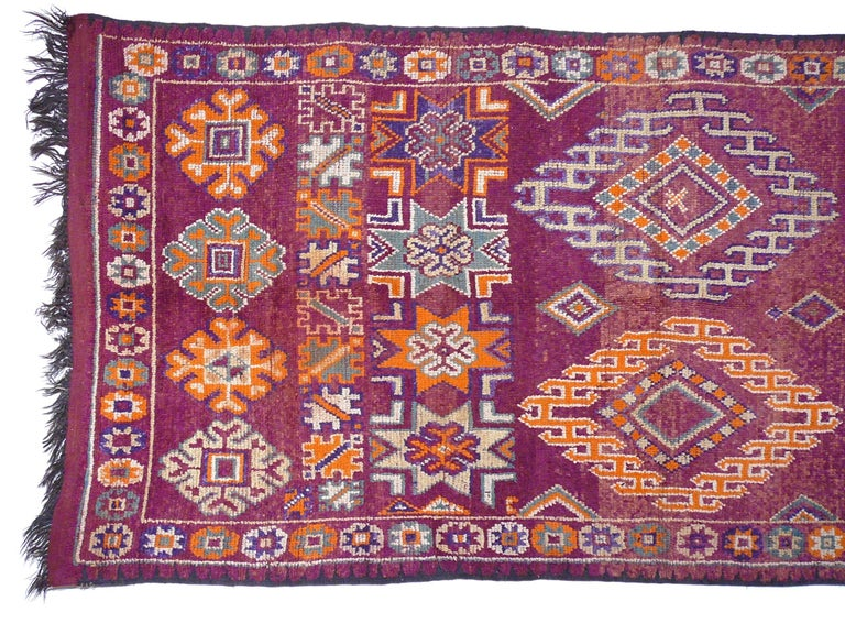 Wool Moroccan / North African Vintage Berber Rug For Sale