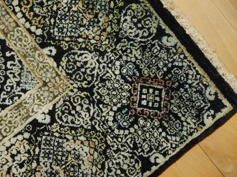 Kohinoor Hand-Knotted Wool and Silk Rug from India 2