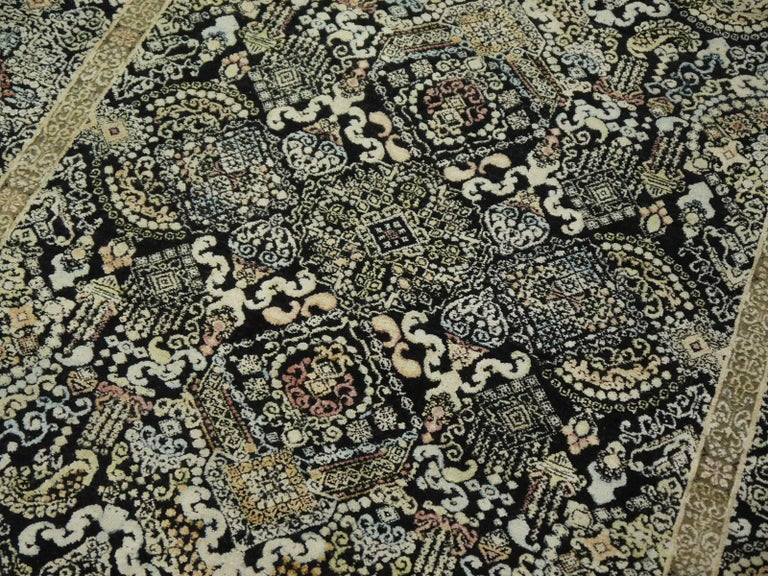 Kohinoor Hand-Knotted Wool and Silk Rug from India 6