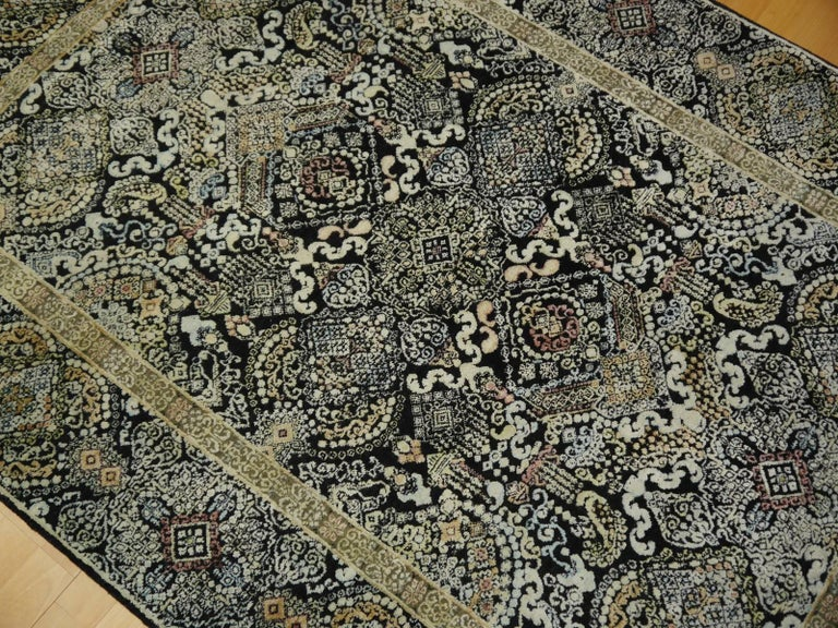 Kohinoor Hand-Knotted Wool and Silk Rug from India 5
