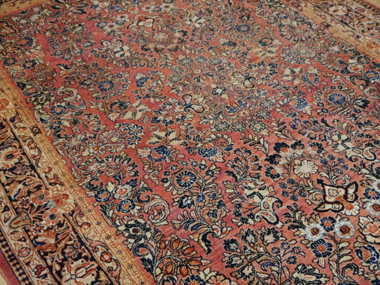 Wool Antique Rug Early 20th Century Classic  Carpet For Sale