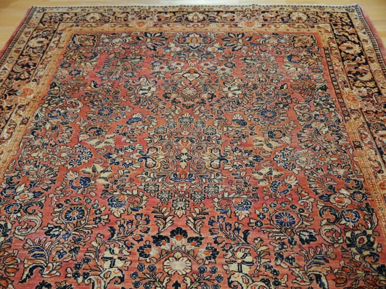 Antique Rug Early 20th Century Classic  Carpet For Sale 2